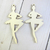 Wood Ballerina Embellishment 2pcs