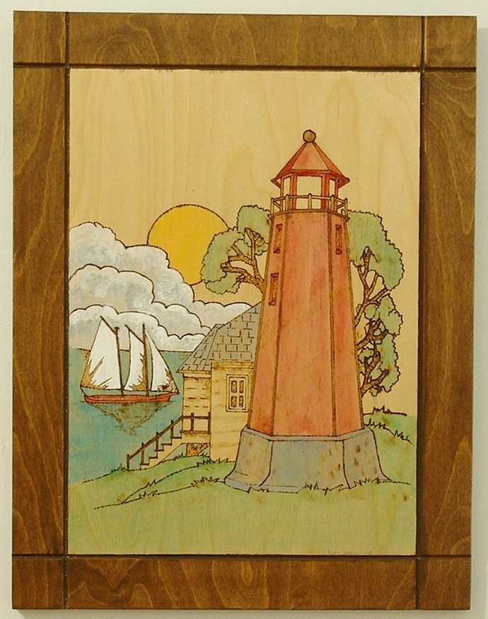Lighthouse, Nautical Wood Wall Art