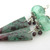 Red Tipped Spikes Earrings - handmade hollow artisan lampwork sterling silver