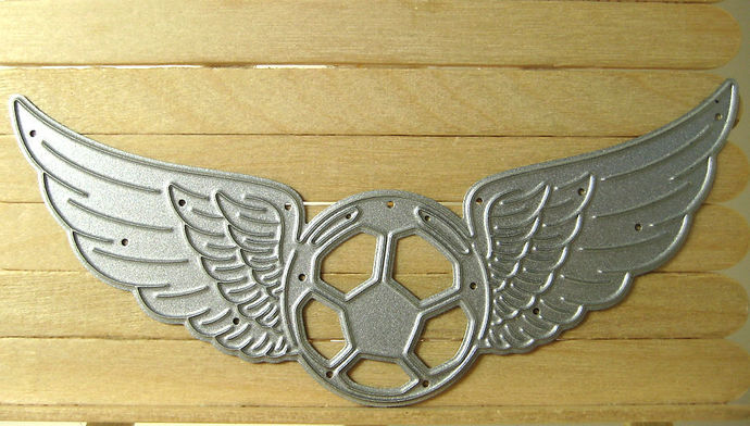 Soccer Ball with Wings Cutting Die