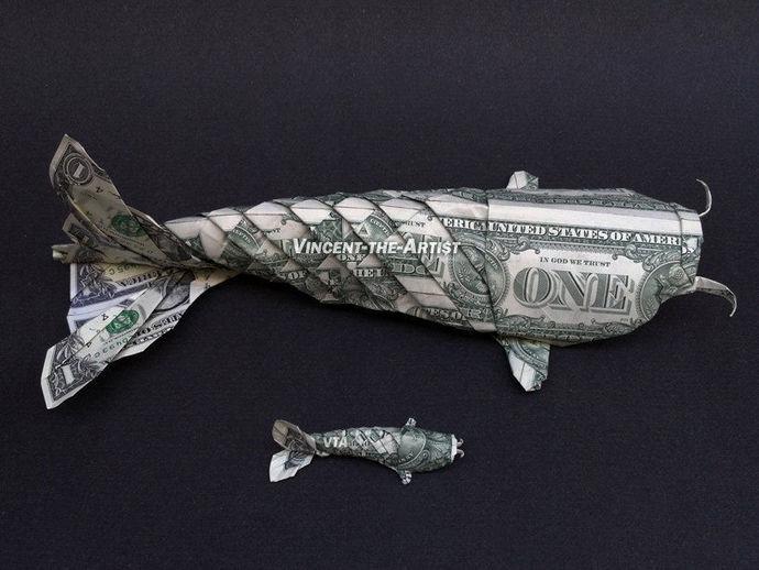Dollar Origami | Yatzer | 518x690