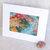 """Warm Colors"" Dot & Spiral Splash Study original mixed media painting, 5x7"