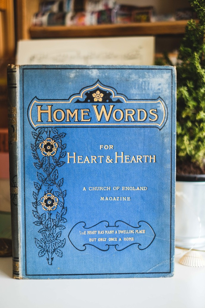 Vintage book more than 100 years old - Home Words - beautiful book from 1905
