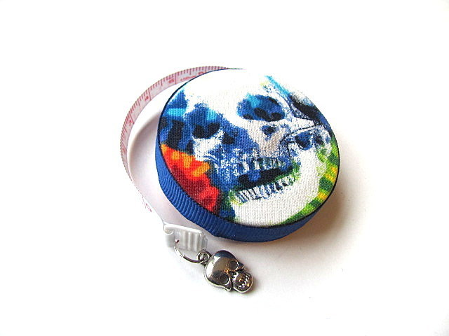 Tape Measure Tie Dye Skulls Pocket  Retractable Measuring Tape