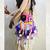 Sweet Hippie Flower Child Medium Size Boho bag, Festival Gypsy Rainbow Fringe,