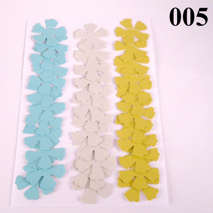 Ivory Yellow Light Blue Die Cut Wallpaper Flowers