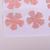 Pink Textured Die Cut Vinyl Wall Covering Flowers