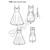 Simplicity Pattern 1353 - Misses' Dresses with Skirt, Length and Bodice