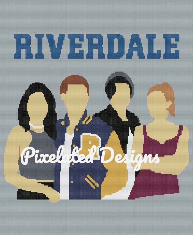 Riverdale Pattern - SC - 180x240 - Throw - Graph w/Written - Full Version