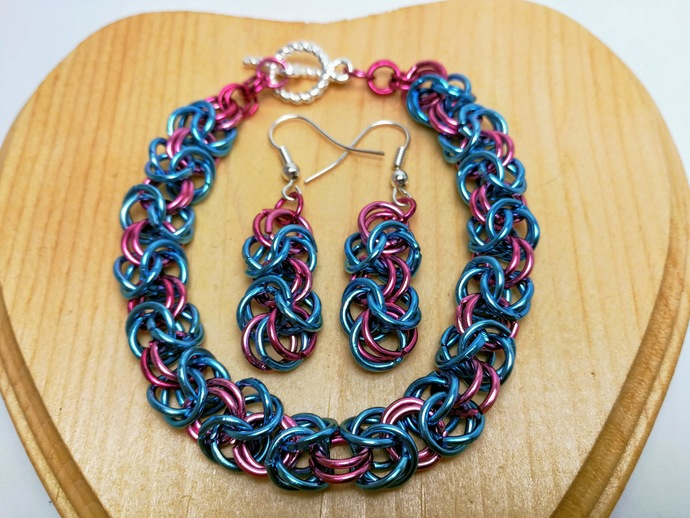 Coloured Byzantine Chain Jewelry Set