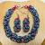 Coloured Byzantine Chain Jewelry Set