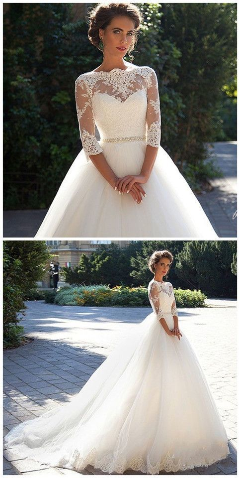 New White/Ivory Wedding Dresse Lace Bridal Gown wedding gowns