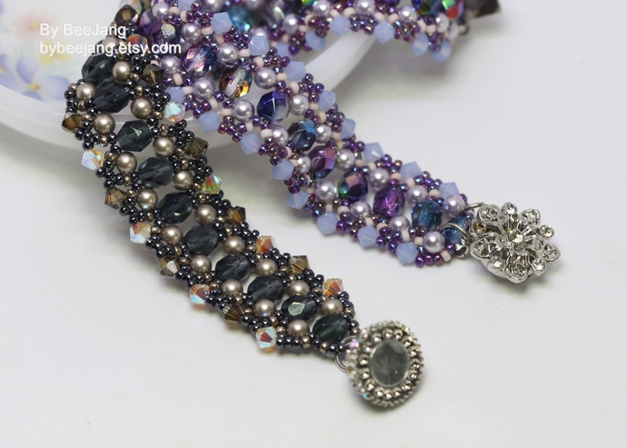 Beading Patterns, Elmyra Bracelet, Beadweaving Patterns, Bracelet Tutorials,