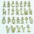 Alaphabet Letter Charms 26 Pcs - Antique Bronze