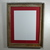 12x16  red mat in 16x20 recycled wood wall hung poster frame
