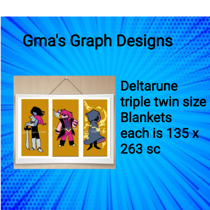 Deltarune Triple twin Blankets