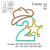 Sheriff number 2 2nd birthday applique embroidery design, applique embroidery