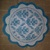 N173 Paper Napkins (Pack of 2) Scallop Edge Napkin, Blue and White Flourishes