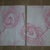N178 Paper Napkins (Pack of 2) Pink and White Peacock Feathers