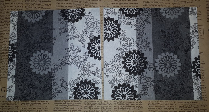 N194 Paper Napkins (Pack of 2) Black White Grey Flowers Elegant