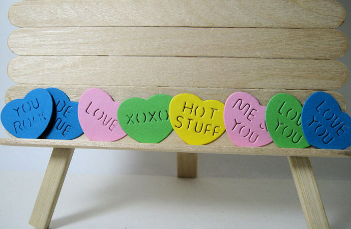 Candy Hearts Cutting Die Set True Love, XOXO,  Me & You
