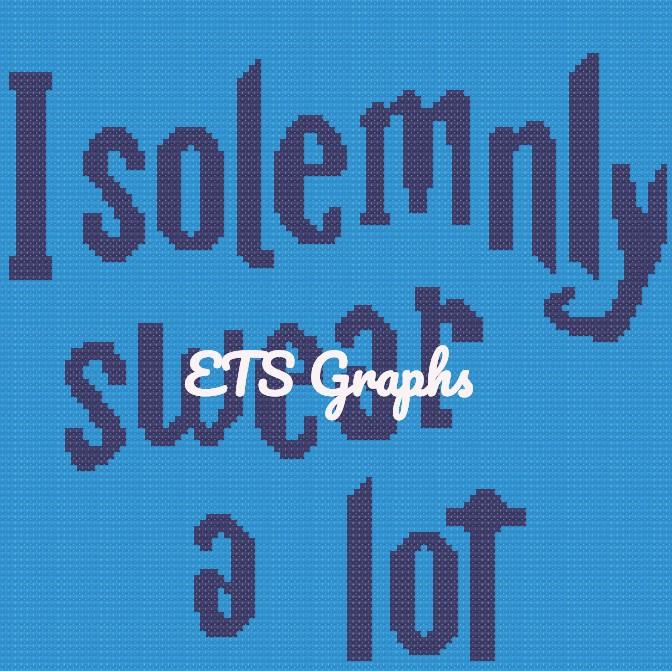 I solemnly swear a lot - Mini C2C - 110x110 - Graph w/Written