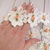 """5pcs Shabby Chic Embroidered Beaded Flower Appliques - 2"""", 2.5"""", 1.7/8"""" Pink,"""