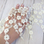 "Venice Lace Embroidered Dangle Flower Wide trim - 7"" Off White Soft, Stiff"