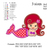 Copy of Cute Mermaid applique embroidery design, applique embroidery pattern No