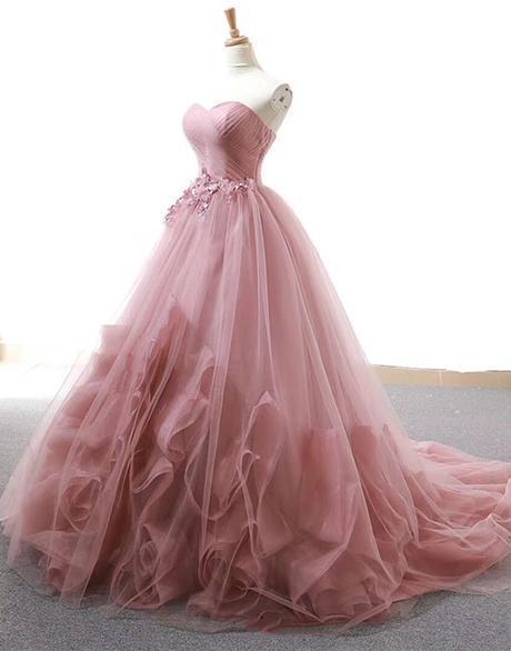 Dark Pink Wedding Gown Beautiful Formal Dress 2019 Sweet 16 Gowns