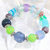 Bracelet, stretch, beaded in Elegant Blue-green and Purple Colors with Sparkle
