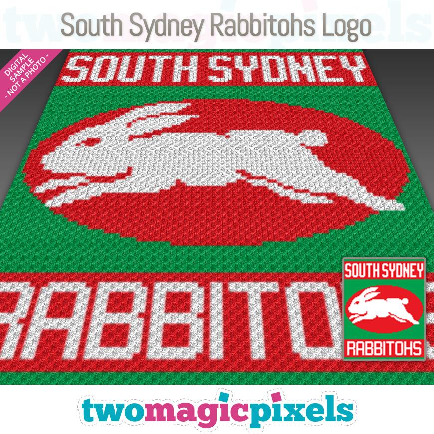 South Sydney Rabbitohs Logo Crochet Graph Twomagicpixels