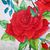 """Watercolor Painting, Original, Flower Watercolor Painting, """"Roses are Red"""","""
