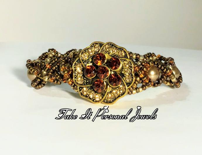 Amber Flower handmade Bracelet