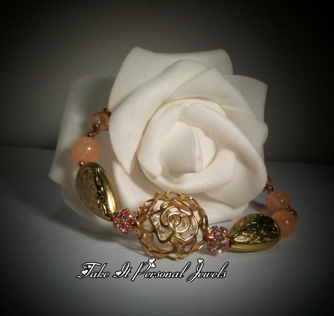 Golden Rose handmade Bracelet