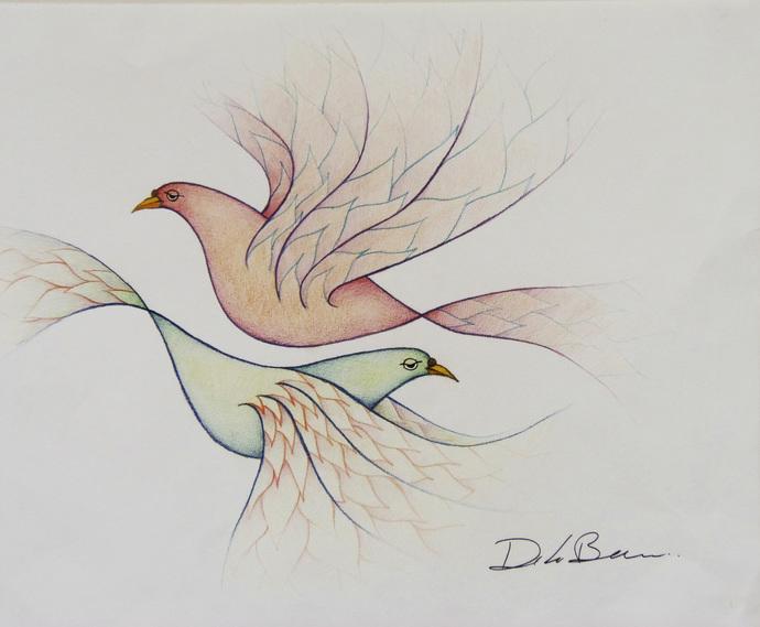 Palomas I Original drawing