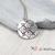 Hand Stamped Metal Pendant, Stamped Mandala Pendant Necklace, Stamped Aluminum