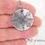 Stamped Mandala Necklace, Flame Design Mandala Pendant, Round Mandala Jewelry,