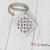 Southwestern Square Mandala Necklace, Mandala Pendant Necklace, Hand Stamped