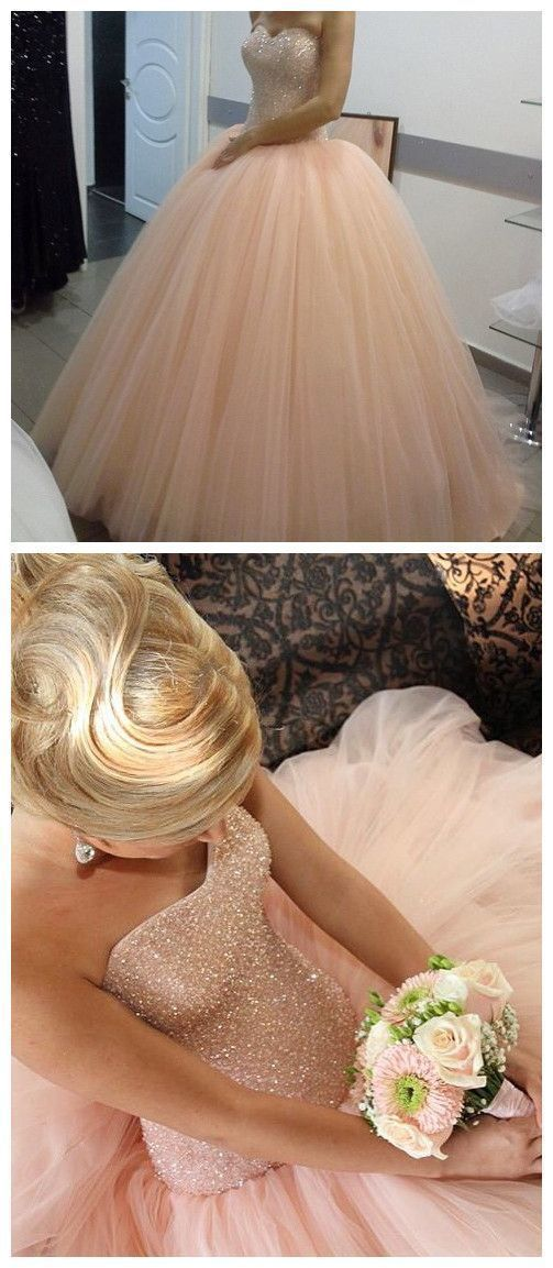 Stunning Gorgeous New Arrival Prom Dress, Modest Prom Dress, Fabulous pink tulle