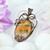 Bumblebee Jasper Copper Pendant; Wire Wrapped Woven Pendant include chain (P106)
