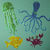 6pc Sea Life Metal Cutting Die Set, Jellyfish, Octopus, Fish and Crab