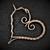 Copper Pendant; Heart Pendant; Wire Wrapped (P134)