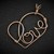 Pendant; Copper Wire Wrapped Heart (P133)