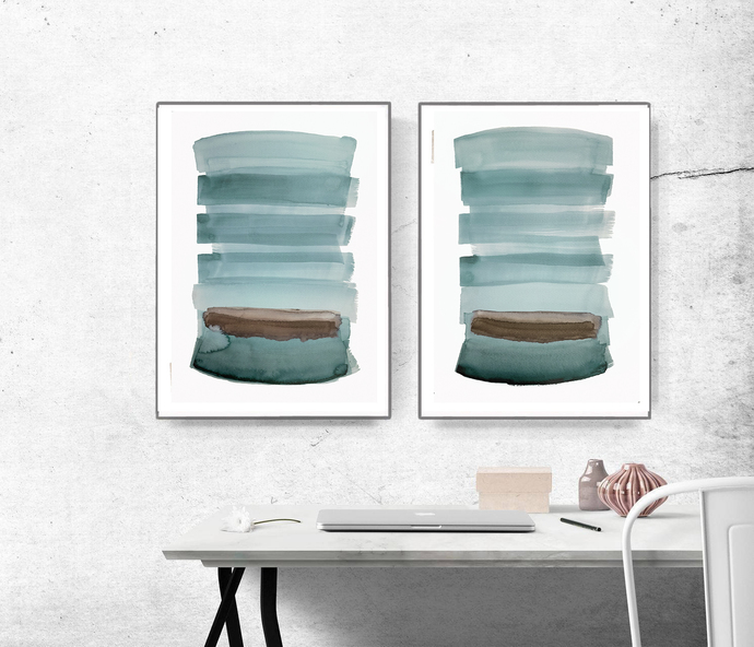 Digitat abstract, contemporary art, scandinavian ,set of 2 PRINTABLE , Abstract