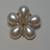 Pearl Flower Buttons 2*