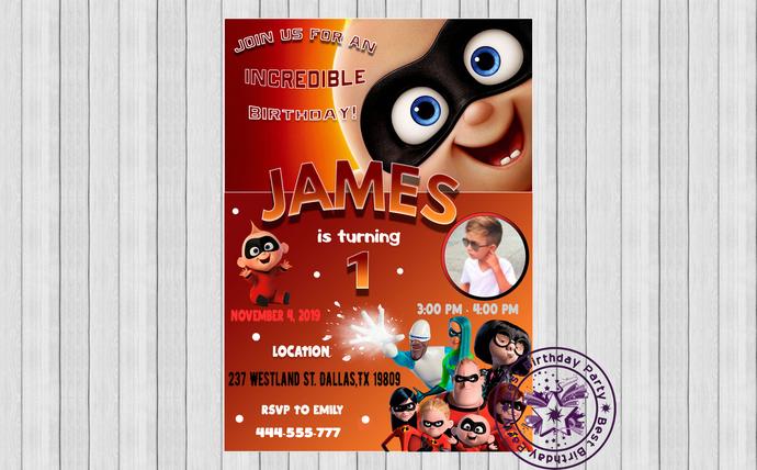 jack jack birthday invitation, baby jack jack birthday party, baby jack jack