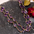 925 Sterling Silver Faceted Natural  Amethyst Flawless Freeform  Royal Chain