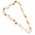 Multi color Chain,925 Sterling Silver Semi Precious Mulit Color  Amethhyst, Rose