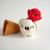 Scoopsie Cream with Cherry on top, ice cream scoop fiber Art Toy, OOAK felted
